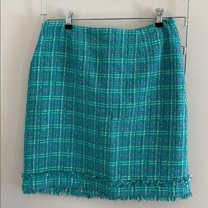 Teal and purple skirt